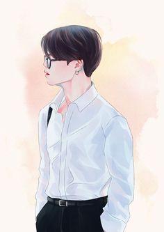 Taehyung Fanart, Jungkook Fanart, Bts Jimin, Bts Manga, Manga Anime, Fanart Kpop, Yoonmin Fanart, Kpop Drawings, Bts Aesthetic Pictures