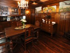 Nicole Curtis Rehab Addict -Colfax dining room- #hardwood #woodwork #dining
