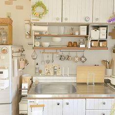 Home Decor Kitchen, Kitchen Interior, Home Kitchens, Kitchen Design, Korean Apartment Interior, Japanese Apartment, Apartment Design, Home Room Design, House Design