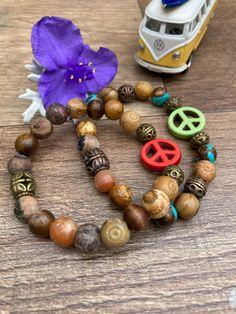 Peace Bracelets. Peaceful easy feeling. Get yours today!! Lots of different designs. #peace #peacesign #hippie #hippiestyle #bracelet #handmadejewelrydiy Hippie Style, Etsy Seller, Bohemian, Beaded Bracelets, Peace, Inspired, Jewelry, Design, Jewlery