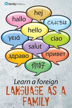 Learn a foreign language as a family