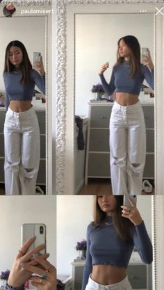 Adrette Outfits, Retro Outfits, Cute Casual Outfits, Summer Outfits, Fashion Outfits, Stylish Outfits, Outfit Stile, Looks Pinterest, Mode Ootd