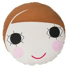 Coussin de sol en coton visage de poupée Lulu Sebra