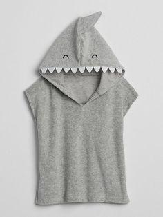 Gap Baby Shark Coverup Light Heather Gray. Love this cute shark coverup for babies. I love sharks! #shark