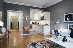 Something else than white & bright | Photo by Swedish broker Alvhem Mäkleri | via Style and Create