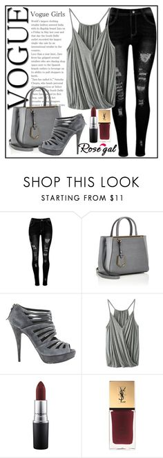"""""""Rosegal"""" by candiii-86 ❤ liked on Polyvore featuring Fendi, Miu Miu, MAC Cosmetics and Yves Saint Laurent"""