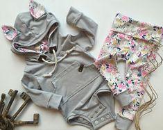 HOODZIE w / Ohren gesetzt, Baby-Sweatshirt, geschlechtsneutrale Hoodie, Body Hoodie, moderne Baby-Kleidung, Baby-Geschenk-Ideen, Säugling hoodie