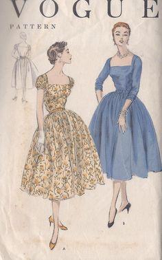 S 18 Vintage 1954 Misses Dress Pattern Low by CottageLaneTreasures, $16.00
