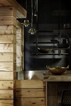 Matt Black Tile + Timber