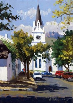 Roelof Rossouw Landscape Photos, Landscape Paintings, Landscapes, Oil Paintings, South African Artists, New Artists, Beautiful Paintings, Travel Posters, Art Oil