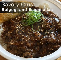 Savory Crust in Morton Grove, just outside of #chicago might be some of the best #empanadas you can get! Don't forget to try their #filipino inspired bowls as well.