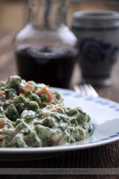 Due bionde in cucina: Spätzle di spinaci con panna e prosciutto