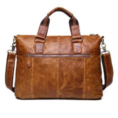 f1b9c25b0c52 Genuine Leather Crossbody Bag Retro Dual-Use Big Capacity Handbag For Man  Mens Back