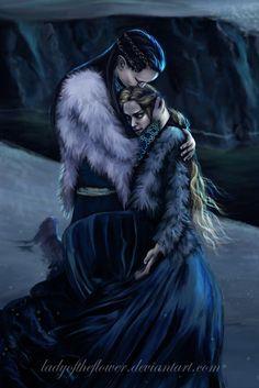 Muerte de Elenwe en Helcaraxë-  by Ladyoftheflower on DeviantArt