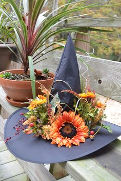 Witch Hat Fall Deco #halloween