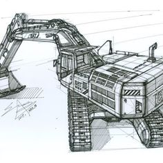 Wheel Loader Description Sketch . . . . . . . . . #rendering#transportationdesign #vehicledesign #conceptart #designsketch… Cat Excavator, Crawler Crane, Construction Machines, Heavy Machinery, S Car, Ford, Rear Window, Station Wagon, Heavy Equipment