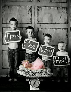 Don't mess with her ♥If the third baby is a girl!!!
