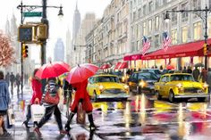 Frame DIY Painting By Numbers Kits Paris Street Landscape Wall Art canvas pictures by numbers Wall Art Pictures, Canvas Pictures, Canvas Art Prints, Canvas Wall Art, Framed Prints, Kit Pintura, Picture Gifts, Paint By Number Kits, Vintage New York