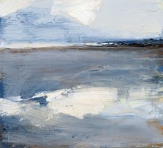 Artist Stephen Robson Painting titled 'Hunstanton sands' Oil on Board,
