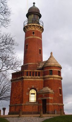 Holtenau Lighthouse in Kiel, Germany