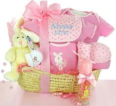 baby gifts | Gift Baskets Created : New Born Baby Girl Gift Basket