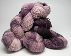 Fond Memories on Disco Monkey Merino nylon stellina blend glittery fingering weight hand painted sock yarn purple tonal with metallic by DyeMonkeyYarns on Etsy https://www.etsy.com/listing/499910521/fond-memories-on-disco-monkey-merino