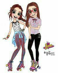 Esta parecemos mi amiga y yo !! que hermoso dibujo