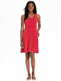 Women's Patterned Sleeveless Dresses Product Image