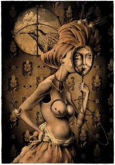 Dimitry Vorsin's Erotic and Surrealist Drawings Echo Dali and Da Vinci #Art #Surrealism #Drawing