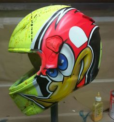 Motorcycle Helmet Design, Full Face Motorcycle Helmets, Racing Helmets, Motorcycle Bike, Airbrush Painting, Helmet Paint, Cafe Racing, Custom Helmets, Cool Motorcycles