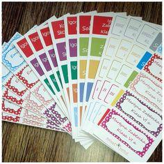 Sezon naklejkowy ;)  #naklejki  #naklejkiszkolne #labels  http://sweetprint.pl/pl/c/naklejki-szkolne/61