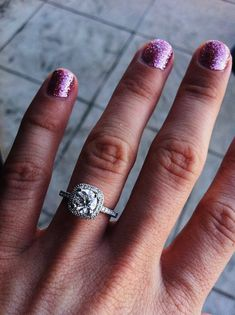 Diamond Halo Engagement Ring from Simon G (MR1842-A)