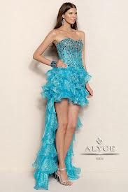 Blue short long dress with a sweetheart neck line and rhinestones!