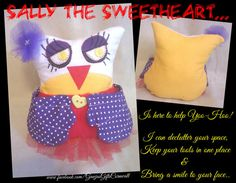 Sally the Sweetheart Owl Desk Tidy Owl Desk Holder by GawjusGifts