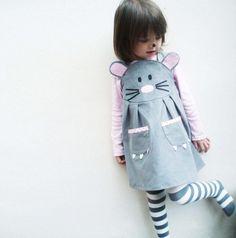 Bebé ratón vestir juego dress en gris by wildthingsdresses | Etsy