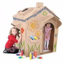 DIY cardboard furniture ideas – fun projects for the weekend Cardboard Playhouse, Cardboard Toys, Diy Design, Diy Cardboard Furniture, Cardboard Fireplace, Fireplace Furniture, Petites Tables, Drawing For Kids, Play Houses