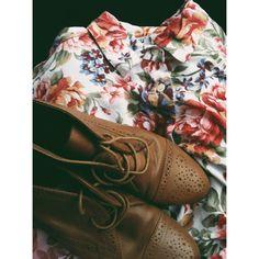 shoes + floral
