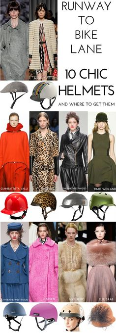 Runway to Bike Lane - 10 Chic Bicycle Helmets. And where to get them.