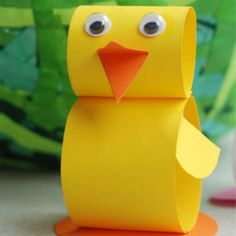 yellow paper bird