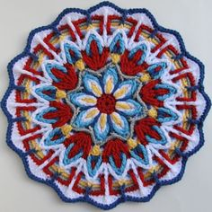 I finished my Crochet Overlay Mandala No. It was such a fun pattern, and I can't say enough about how great a pattern it was! Crochet Mandala Pattern, Crochet Motifs, Crochet Square Patterns, Crochet Circles, Crochet Blocks, Crochet Round, Crochet Squares, Crochet Doilies, Crochet Flowers