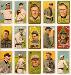 Use vintage baseball cards in the decor