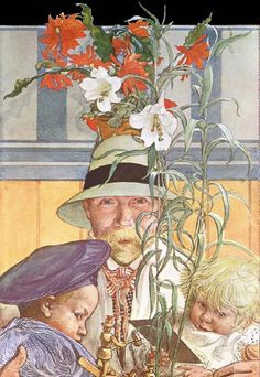 Complete Works Of Carl Larsson | Carl Larsson:. Frontispiece for Andras Barn