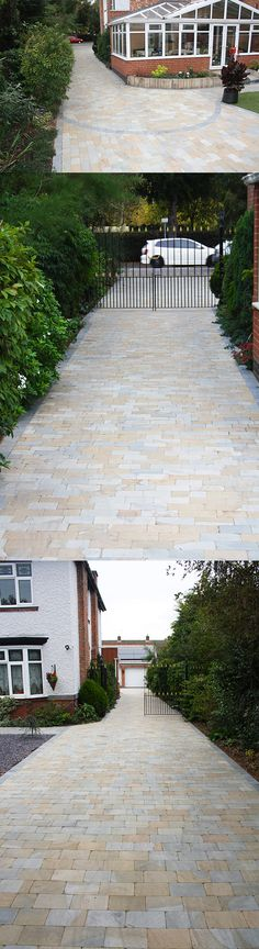 Stunning Driveway | York Mix Sandstone Block Paving | Landscaping | Patio |  Driveway Ideas |