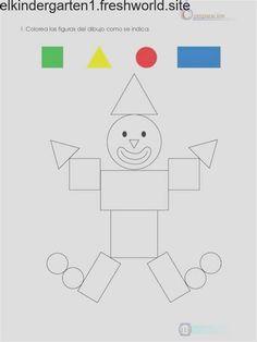Printable Preschool Worksheets, Kindergarten Math Worksheets, Preschool Curriculum, Preschool Lessons, Preschool Activities, Preschool Circus, Shape Activities, Alphabet Worksheets, Shapes Worksheets