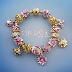 Pandora Gold, Pandora Rings, Pandora Jewelry, Charm Braclets, Pandora Bracelet Charms, Cute Bracelets, Jewelries, Bracelet Designs, Cute Jewelry