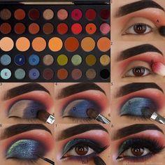 Gorgeous Makeup: Tips and Tricks With Eye Makeup and Eyeshadow – Makeup Design Ideas Eye Makeup Steps, Smokey Eye Makeup, Makeup Tools, Makeup Brushes, Beginner Makeup Kit, Makeup Morphe, Looks Dark, Eye Makeup Designs, Simple Makeup Looks