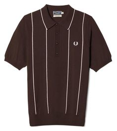 Another winner from the Fred Perry Reissues range - the Fred Perry Stripe Knitted Shirt. As you probably know, the Reissues range is based around the Modern Mens Fashion, Mod Fashion, 1960s Fashion, Sporty Fashion, Fashion Women, Oakley, Mod Look, Tennis Fashion, Fred Perry