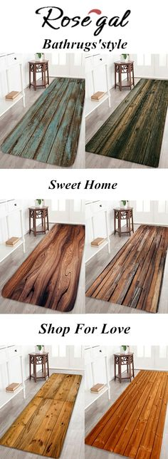 Wooden Floor Pattern Anti-skid Water Absorption Area Rug.Home,Free shipping,home diy,outdoor mats,Anti-skid Water Absorption.