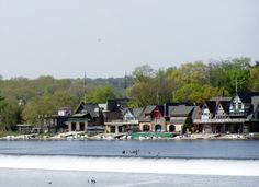 Boathouse Row - Historic site located on the east bank of the Schuylkill River.  It consists of a row of 15 boathouses housing social and rowing clubs and their racing shells.  Each of the boathouses has its own history, and all are at least a century old.  Boathouse Row hosts several major rowing regattas, including the Dad Vail Regatta.