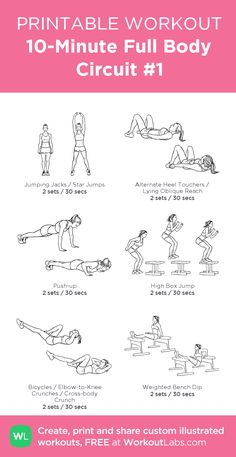 full body workout my custom printable workout